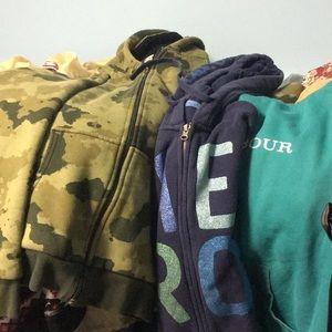 5 Lbs sweatshirts/ hoodies bundle S/M